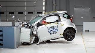 2012 Scion iQ moderate overlap IIHS crash test