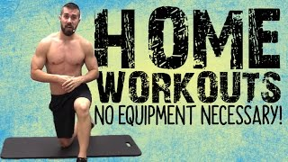 How to Exercise at Home WITHOUT Equipment