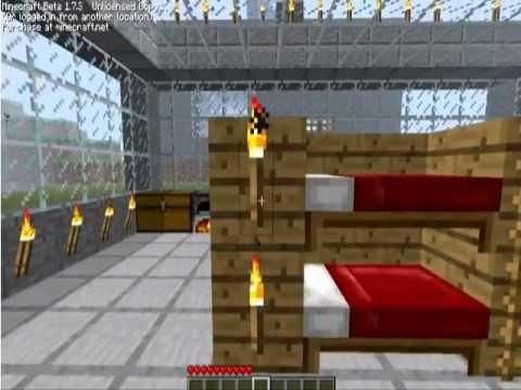 Minecraft como hacer una litera facil rapido y sencillo - Como hacer una litera ...