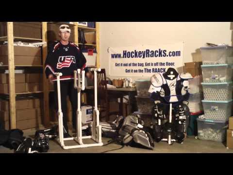 Goalie Hockey Rack  GR1 Patent Pending (sales@hockeyracks.com)