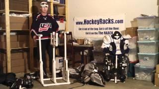 Goalie Hockey Rack GR1 patent pending (sales hockeyracks.com)