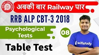 6:00 AM - RRB ALP CBT-3 2018 | Psychological Tests by Ramveer Sir | Table Test