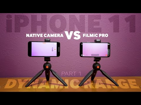 iPhone 11 Native Camera vs FiLMiC Pro Log | DYNAMIC RANGE