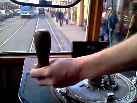Driving an old tram in Oslo