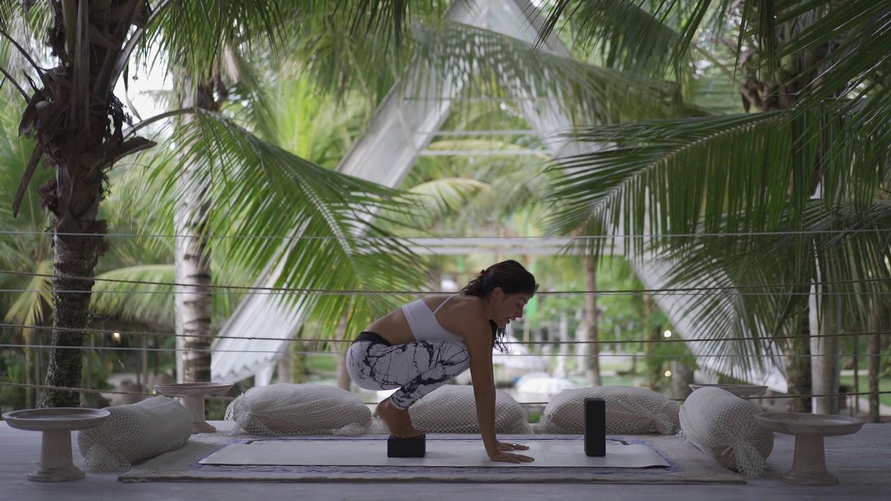 Crow/Crane pose yoga tutorial - YouTube