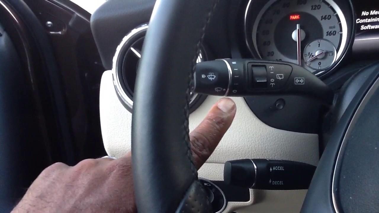 2017 Mercedes Benz How To Set Rain Sensing Windshield Wipers