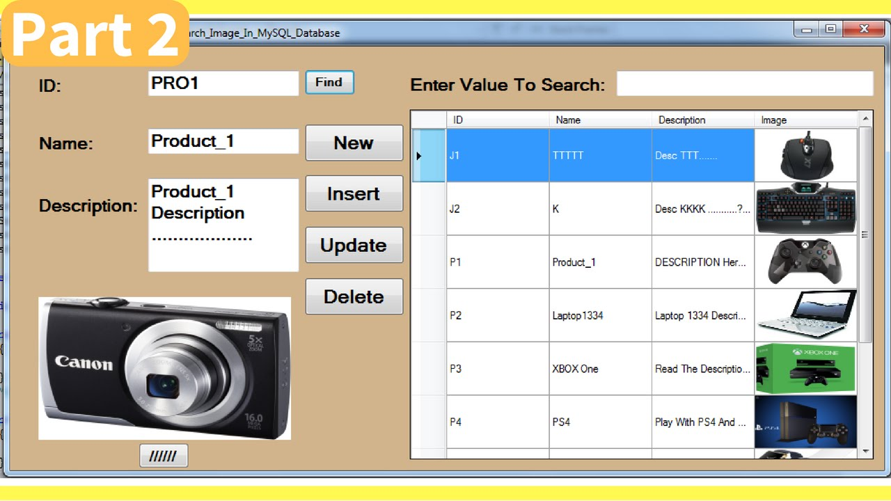 C# - How To Insert Update Delete Search Display Images From MySQL ...