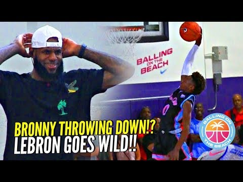 BRONNY James 1st In-Game DUNK!? Gets LeBron OUT OF HIS SEAT Going Wild!! Crowd GOES CRAZY!