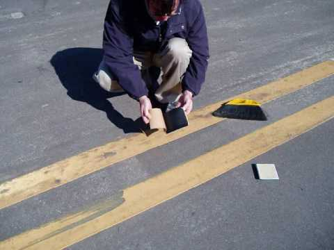 Installing Reflective Raised Pavement  Road Markers  YouTube