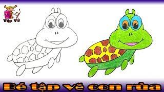 Bé tập vẽ con rùa theo mẫu | draw the turtle