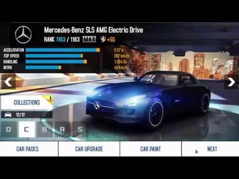 asphalt 8 airborne mercedes benz sls amg electric drive total credit - Mercedes Benz Sls Amg Electric Drive Black