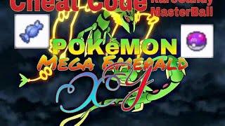 Cheat Code RareCandy And MasterBall On PC, Pokemon Mega Emerald XY GBA ROMs
