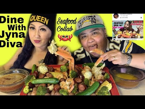 Seafood Boil Collab With DineWithJynaDiva