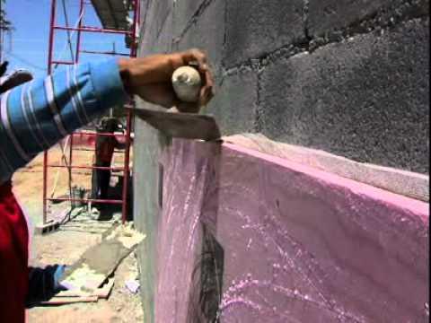 Empastado en pared con aislamiento youtube for Aislamiento termico poliestireno extruido