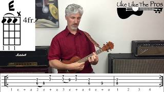 Dont Let Me Down Beatles Ukulele Tutorial (TAB)