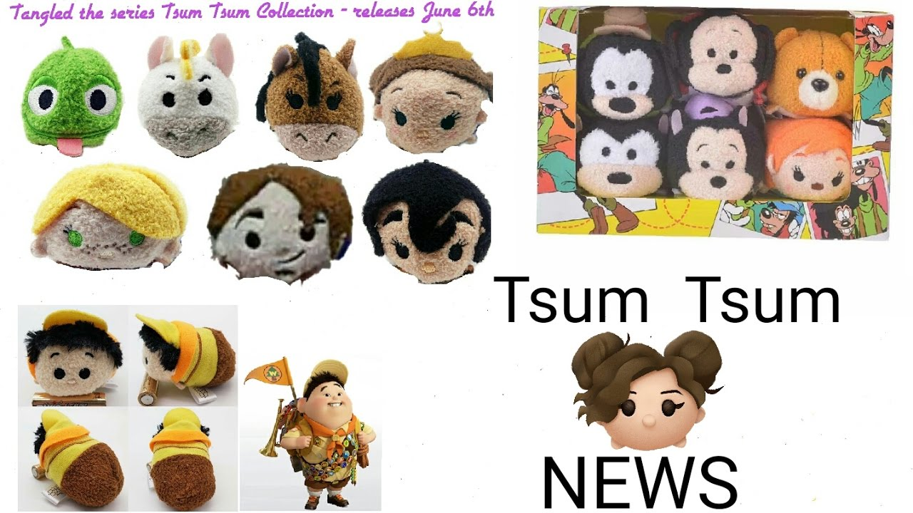 Tsum tsum news tangled collection release date russell goofy movie more youtube for Tsum tsum watch
