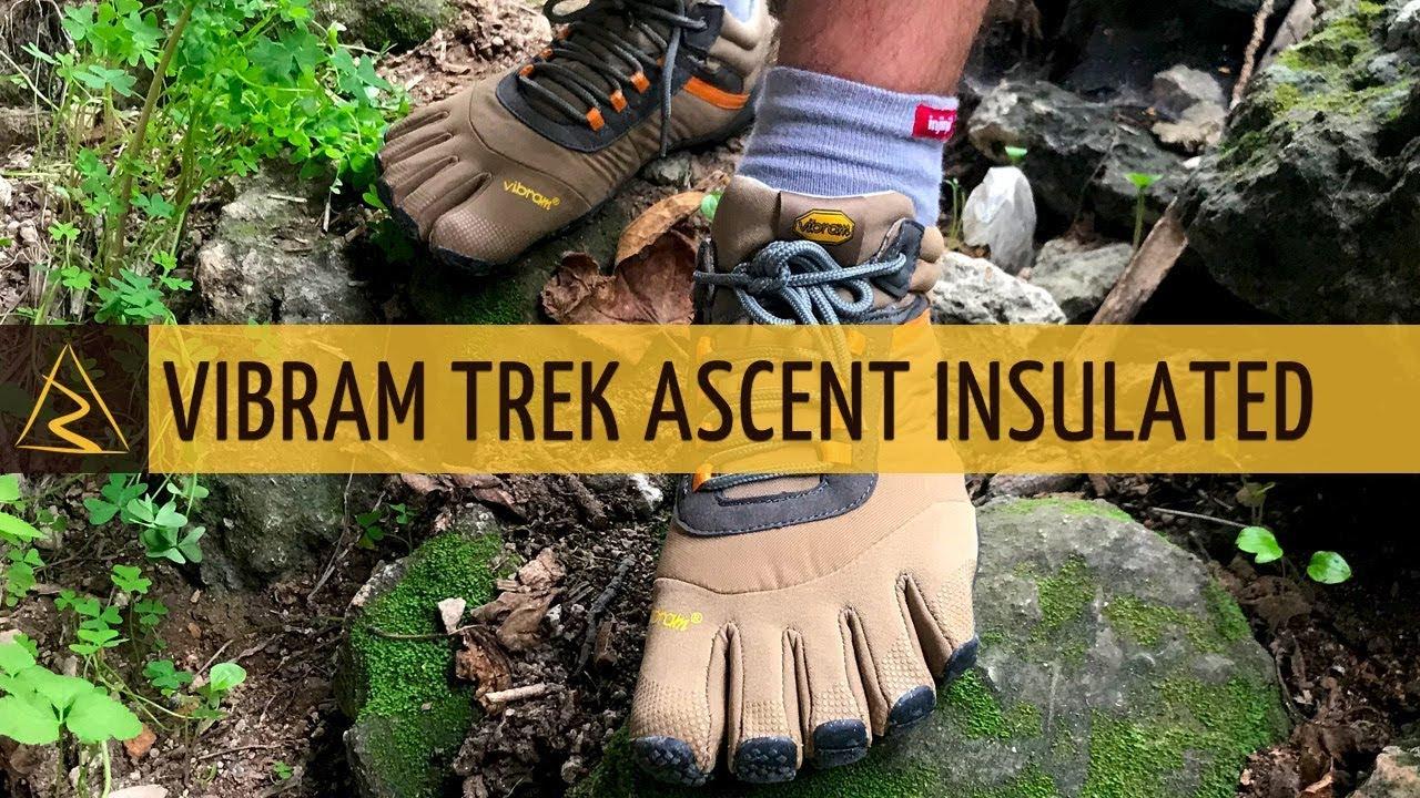 Vibram Fivefingers Trek Ascent Insulated Mens Black Walking Hiking road shoes