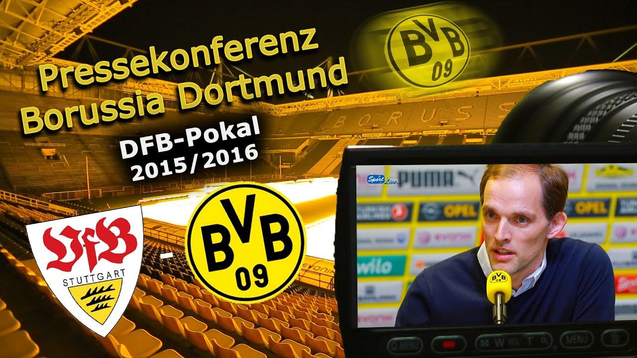 BVB-Pressekonferenz zum DFB-Pokalspiel gegen den VfB Stuttgart
