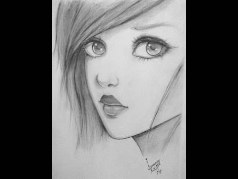 Drawing Girl Portrait رسم بورتريه لفتاه Youtube