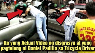 Actual Video ng Ginawang Pagtulong ni Daniel Padilla sa Tricycle Driver na Nakabangga ng Kotse niya