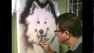 Como pintar animais em camiseta com aerógrafo - Cachorro