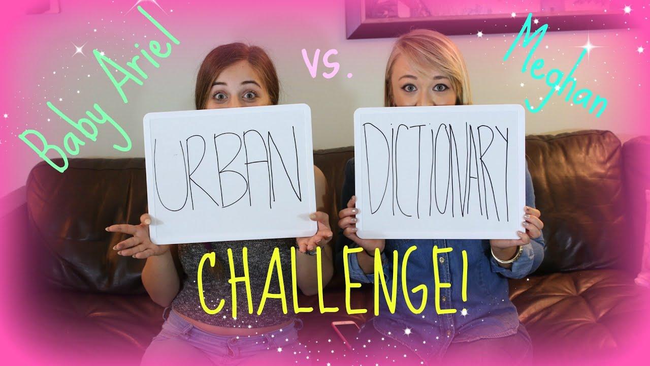 URBAN DICTIONARY CHALLENGE w/ Baby Ariel - YouTube