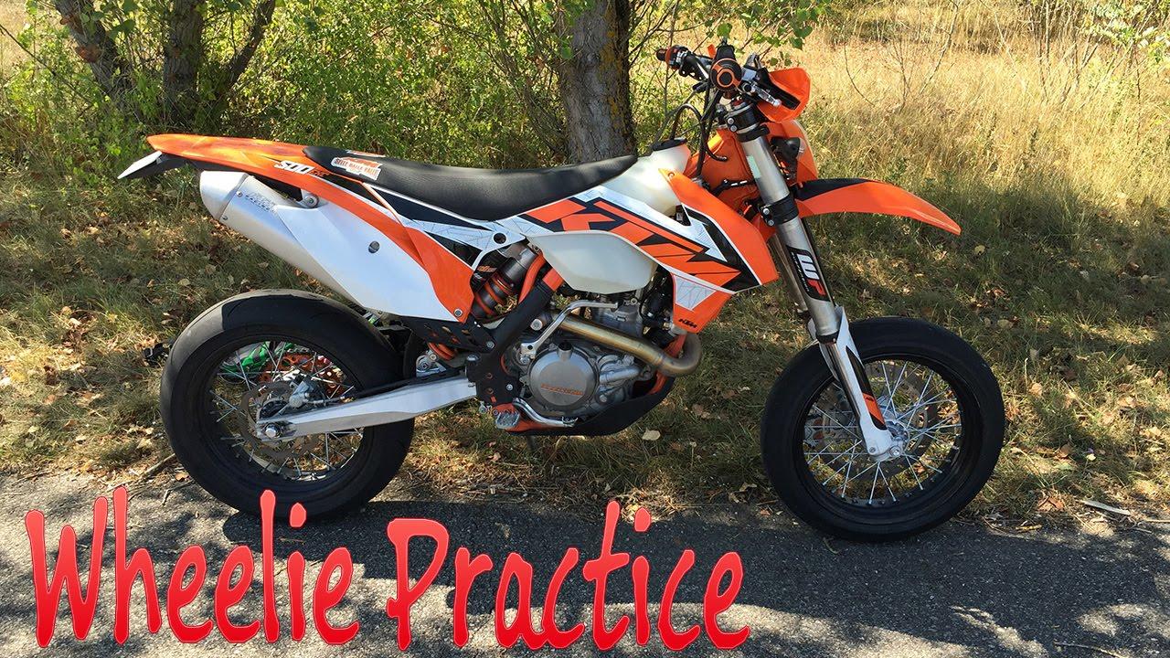 2015 Ktm 500 Exc >> Wheelie Practice - 500 EXC 2016 - - YouTube