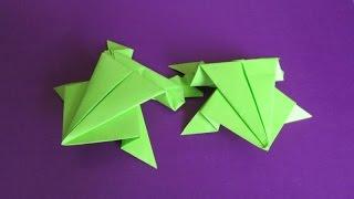 ПРЫГАЮЩАЯ ЛЯГУШКА. Оригами Своими Руками из Бумаги для Начинающих. Видео(В этом видео я научу Вас делать своими руками оригами для детей - ПРЫГАЮЩУЮ ЛЯГУШКУ. Эта поделка из бумаги..., 2015-01-03T22:55:12.000Z)