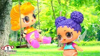� LOL Surprise Dolls Backyard Camping Sleep Over!!