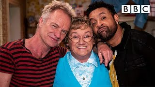 Sting and Shaggy perform their new song 'Don't Make Me Wait' to Mrs Brown - BBC
