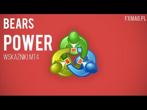 Wskaźniki MT4 - oscylator Bears Power (Piotr Kowalczyk)