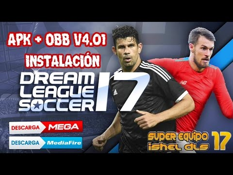 increible super video de actualizacion dream league soccer 2017 instalacion apk + obb v4.01