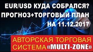 EURUSD : FOREX Прогноз на 11.12.2017 + торговый план. Пробьем ли 1.1700?