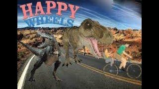 Estoy entre dinosaurios-Happy Wheels #01