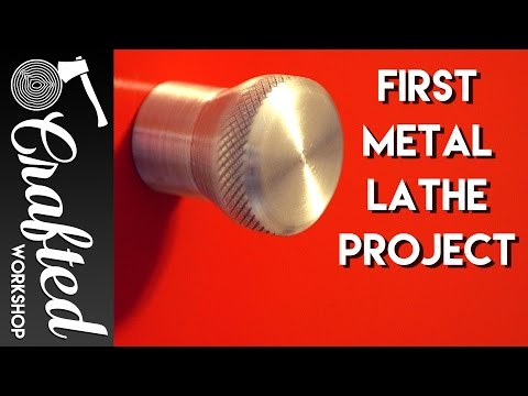 How To Turn An Aluminum Knob On A Metal Lathe | Crafted Workshop