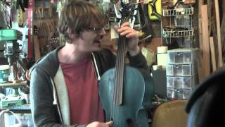 vacation time is over played on a mini upright bass from fish strings ukulele