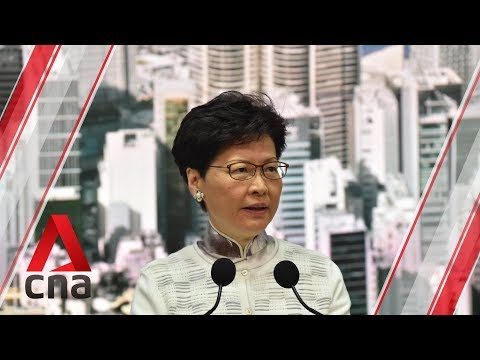 Hong Kong protests: Chief Executive Carrie Lam suspends controversial extradition Bill