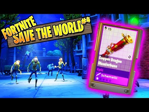 Fortnite Zombies | Save The World Ep 4: My First Epic Gun! (Fortnite PVE Campaign)
