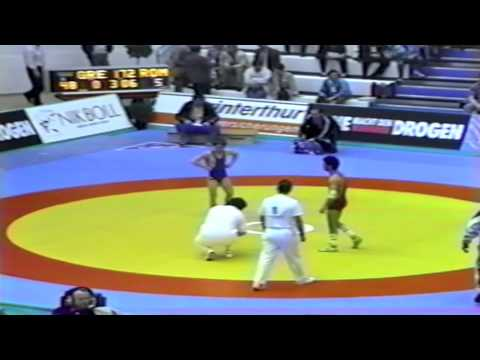 1991 European Greco Championships: 48 kg Thomas Saltagiannis (GRE) vs Valentin Dascalescu (ROM)
