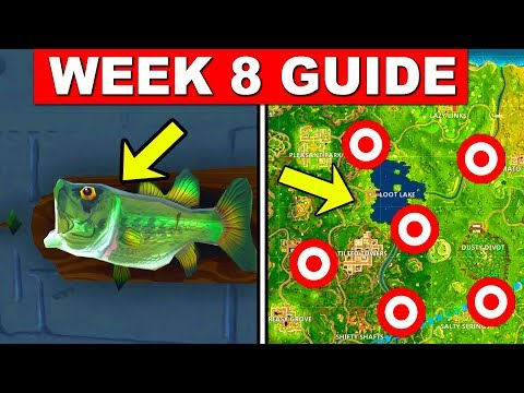 Fortnite ALL Season 6 Week 8 Challenges Guide! Fortnite Battle Royale - FISH TROPHY AND CLAY PIGEONS