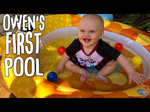 Baby Owen's First Pool