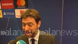"""Juve - Ajax, Agnelli: """"Abbiamo perso contro i candidati a vincere la Champions"""""""