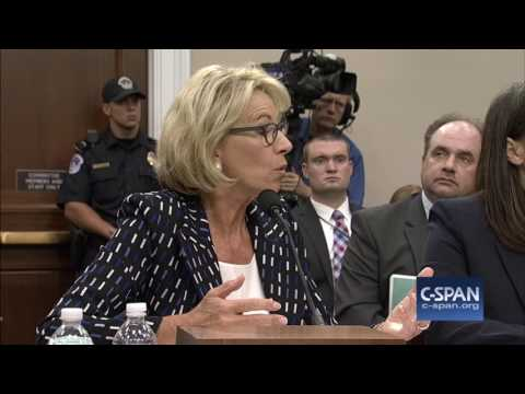 Rep. Clark (D-MA) asks to Education Secretary DeVos about discrimination (C-SPAN)