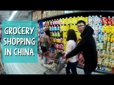 Grocery Shopping at Carrefour in China - Beijing S01E08