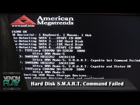 como solucionar hard disk s m a r t command failed no pc youtube