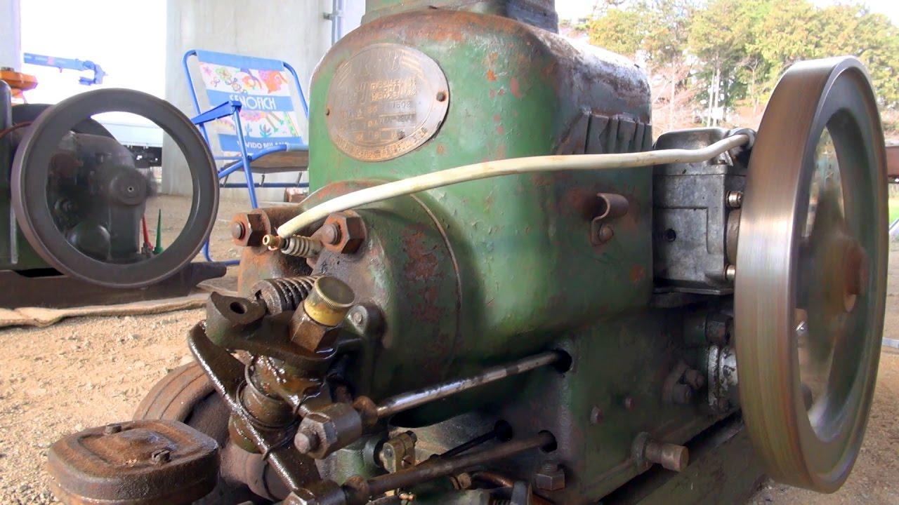Old engines in japan 1950s akitu oil and diesel fuel for Diesel motor oil in gas engine