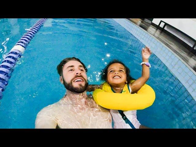 Teaching Zoe To Swim