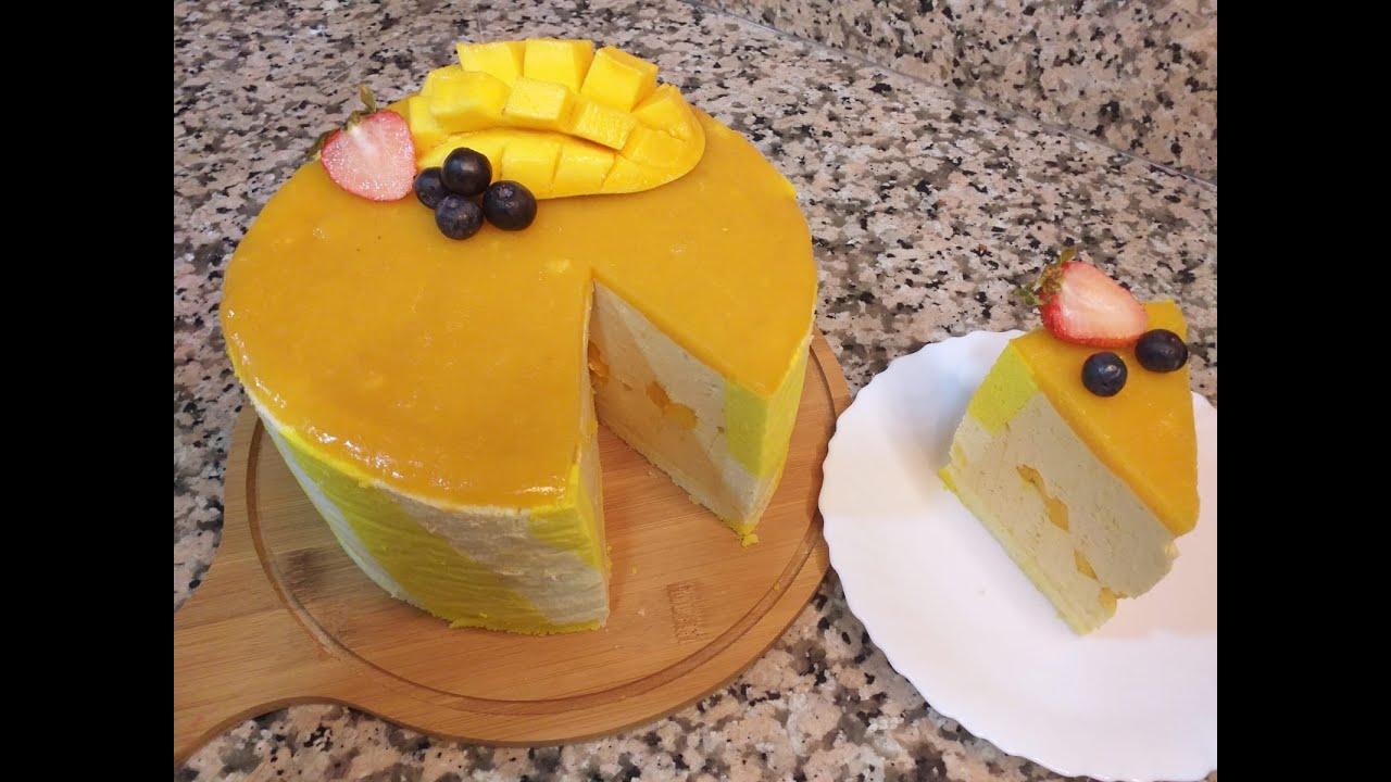 Mango Mousse Cake ll Summer Special Dessert ll Bkra Eid Special Dessert