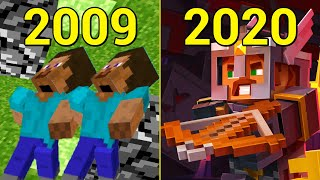 Evolution of Minecraft 2009 2020