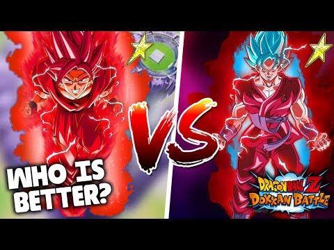 WHO HITS HARDER?! PHY SUPER SAIYAN KAIOKEN VS AGL SUPER SAIYAN BLUE KAIOKEN GOKU! DBZ Dokkan Battle